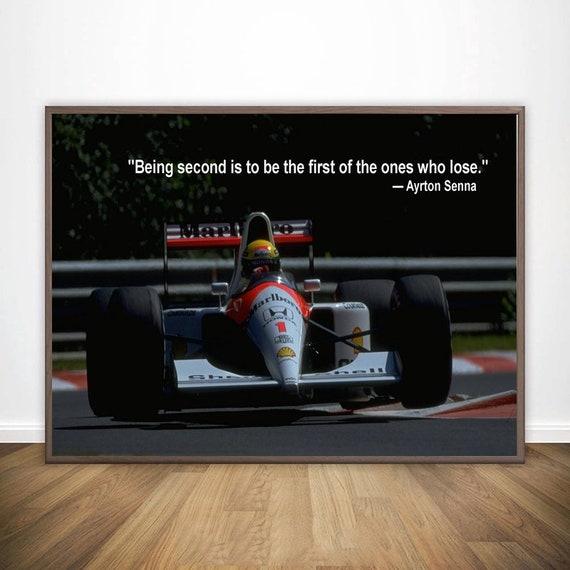 Ayrton Senna Da Silva F1 Racer Sports Poster Motivational Quote Poster Sports Poster For Living Room Canvas Print No Frame 2