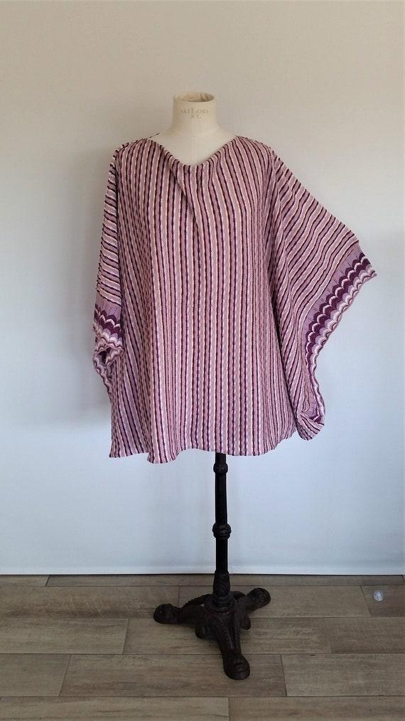 Vintage Italian knitted poncho | Missoni style pon