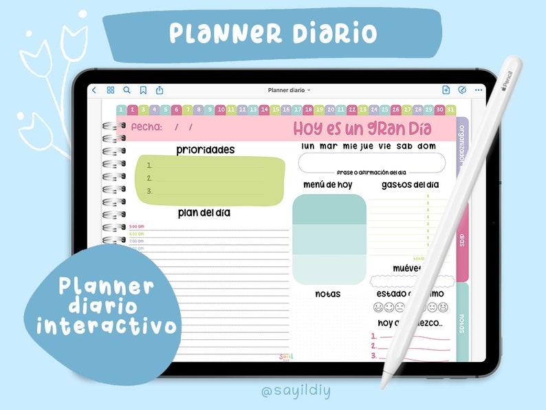 Planner Diario Digital  Libro digital organizador mensual image 0