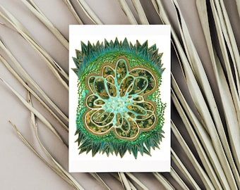 Blank Greeting Card   wiccan decor,popular right now, moving away gift, northwest coast,gift for anyone