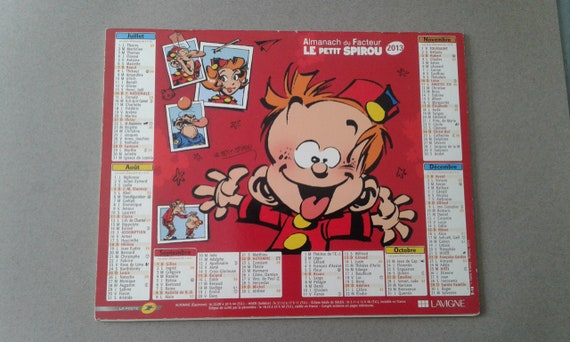 COLLECTION CALENDRIER Spirou 2013   Etsy