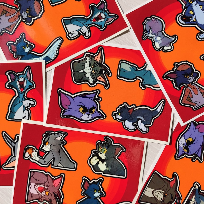 Funny Vinyl Sticker Tom and Jerry Sticker Pack Meme stickers.