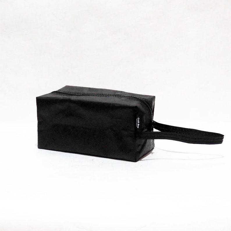 Gift for Kids men women bridesmaids Durable| Eco Friendly Pocket Bag Black Color Paper Grocery Reusable