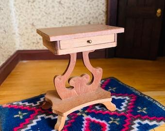 Dollhouse Wood Side Table, Vintage Miniature Furniture, Shackman Japan, Teak