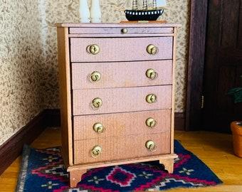 Vintage Dollhouse Dresser, Furniture Miniature Drawers Dresser Chest, Wood Drawers, Shackman, Japan