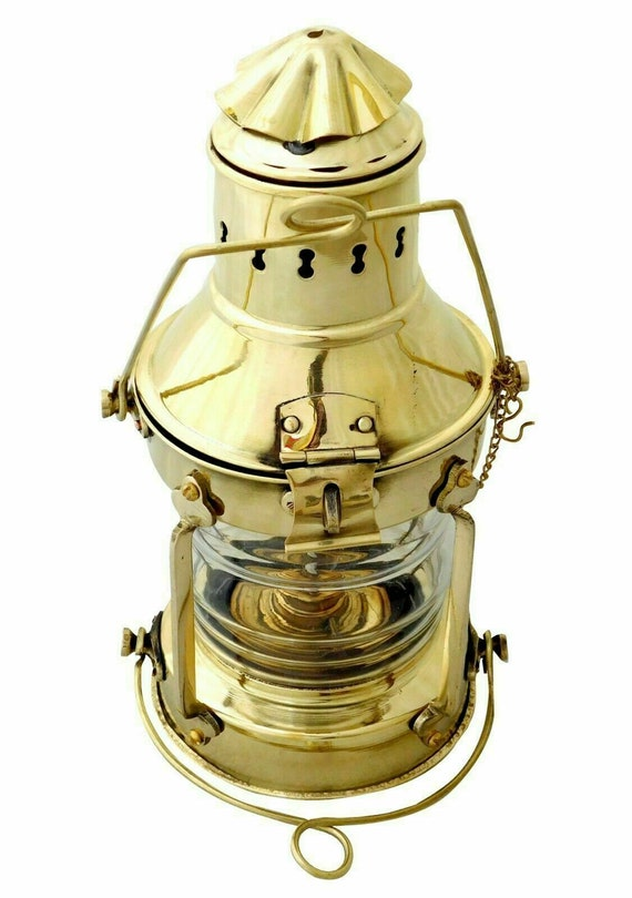Antique Anchor Ship Lantern Nautical Maritime Boat Oil Lamp Light Vintage Decor
