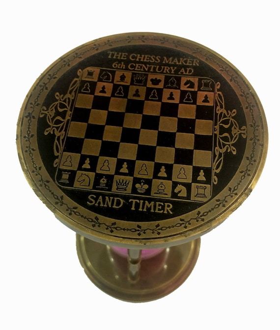 Antique Finish Brass Sand Timer Nautical Maritime Chess Table Decor Hourglass