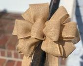 Burlap Bow for Wreath, Home Decor Bow, Wedding Bow, Lantern Bow