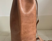 Moroccan single strap leather duffle bag