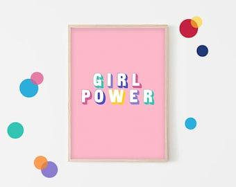 Girl power pillow | Etsy