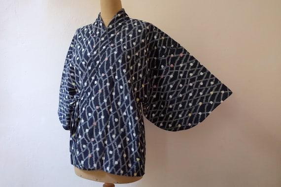 kimono, kasuri, noragi, haori, Japanese work wear,