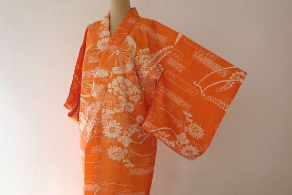 kimono, vintage Japanese silk kimono, antique silk