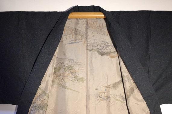 kimono, haori, vintage Japanese silk kimono jacket