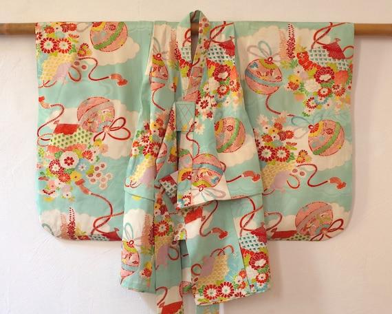 kids kimono, vintage Japanese kids kimono, antique