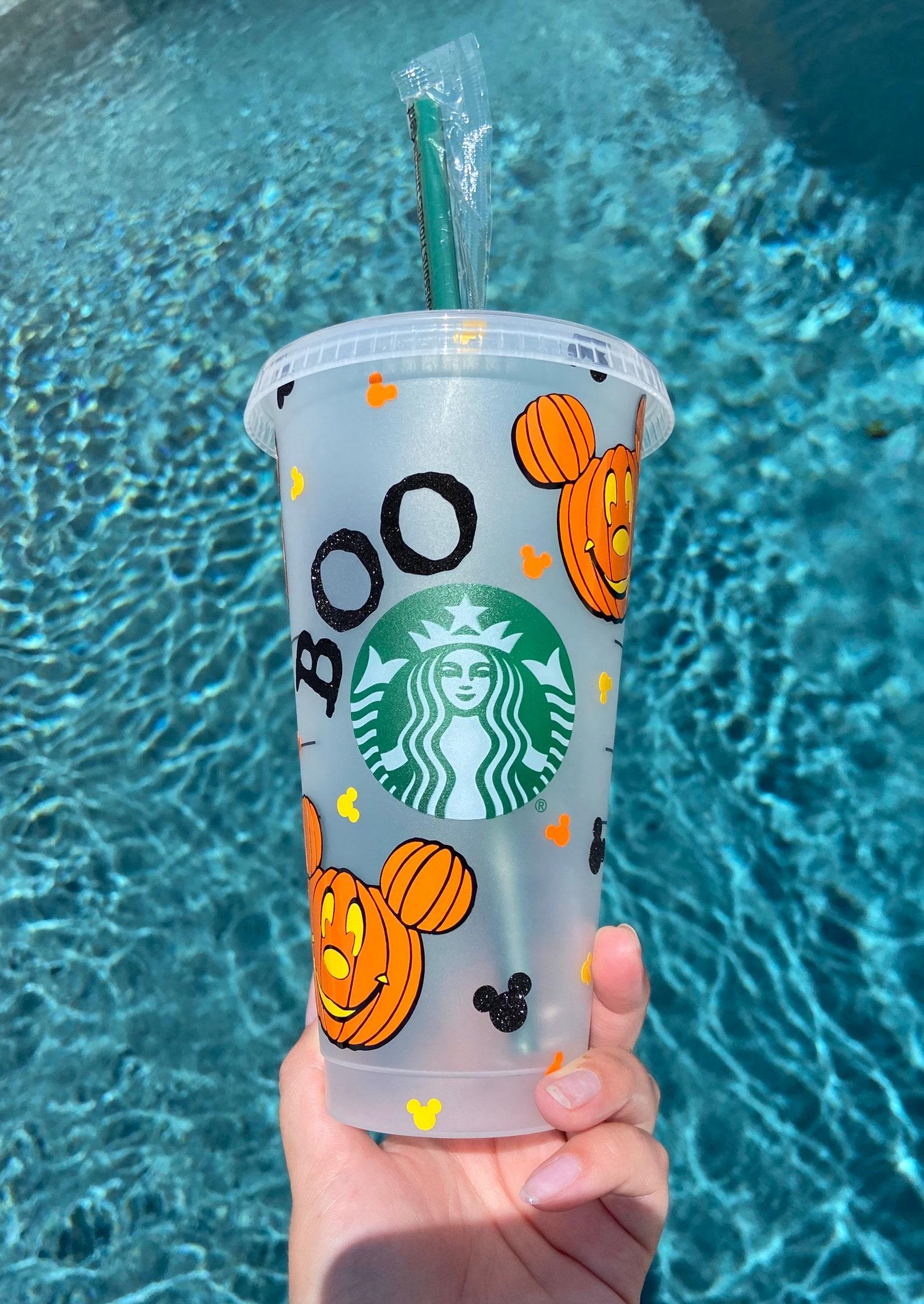 Jack O Lantern Mickey and Minnie Starbucks Reusable Tumblers