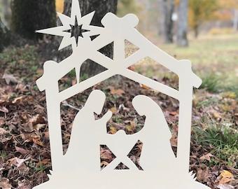 Nativity Metal Yard Sign, Nativity Set, Nativity Scene, Manger Scene, Outdoor Christmas Decor, Christmas Yard Decor, Christian Christmas