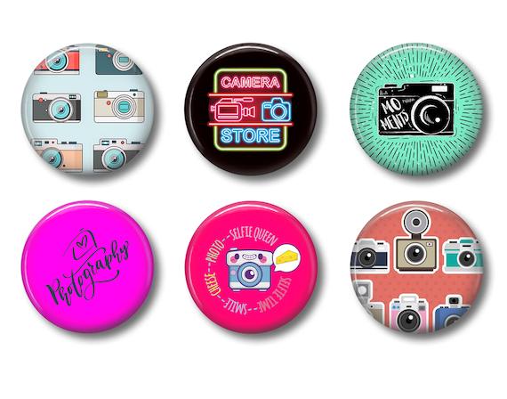 Art Deco Flair Pins Art Deco Flair Buttons Retro Flair Pins Refrigerator Magnets
