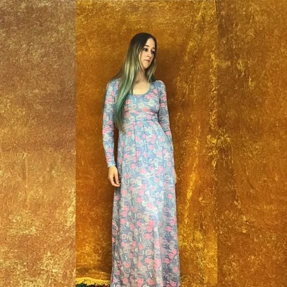 Floral Jersey Empire Waist Maxi Dress - image 10