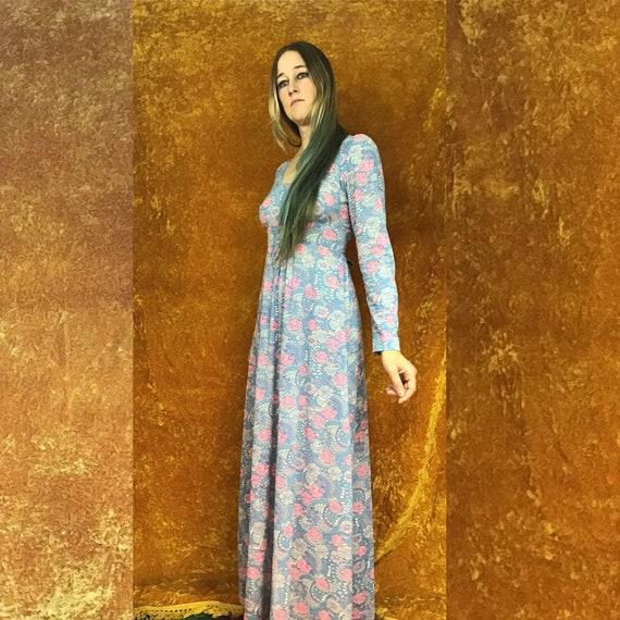 Floral Jersey Empire Waist Maxi Dress - image 5