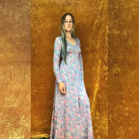 Floral Jersey Empire Waist Maxi Dress - image 7