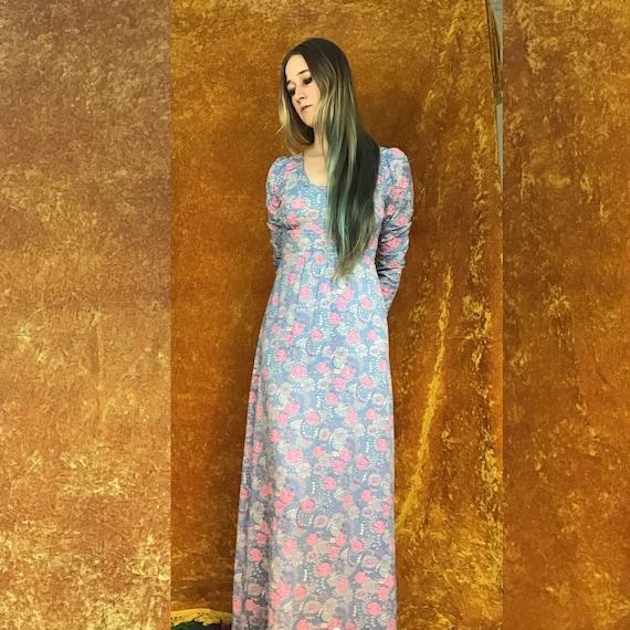 Floral Jersey Empire Waist Maxi Dress - image 8