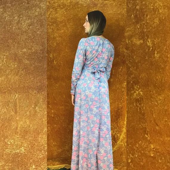 Floral Jersey Empire Waist Maxi Dress - image 3