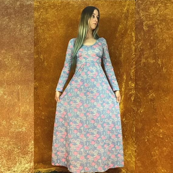 Floral Jersey Empire Waist Maxi Dress - image 4
