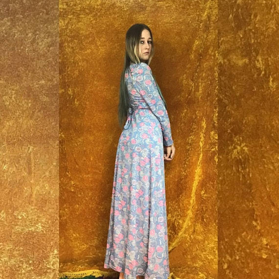 Floral Jersey Empire Waist Maxi Dress - image 9