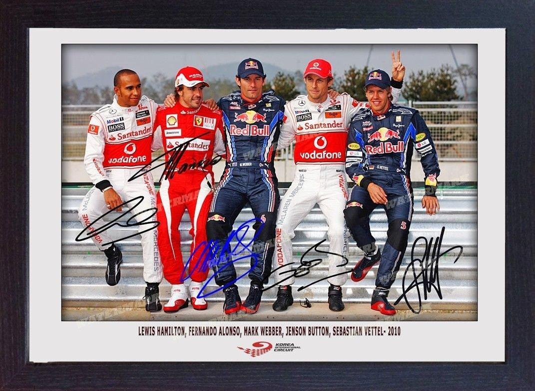 Jenson Button Formula 1 signed autograph photo print Formula 1 Framed #0022