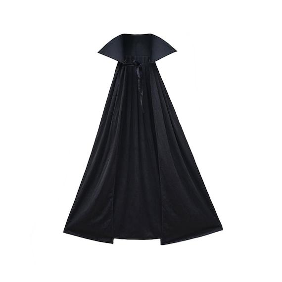 "48/"" Adult Black Cape ~ HALLOWEEN SUPERHERO VAMPIRE MAGICIAN GOTHIC COSTUME CAPE"