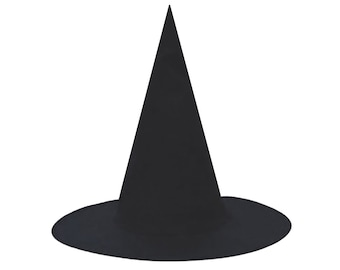 Child Black Witch Hat - Fun Kids Boys Girls Halloween Classic Floating Witch Costume Hat, Party Favor Novelty Gift, Craft Project Decoration