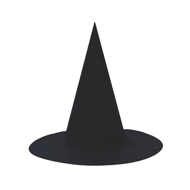 Pack of 5 Gift Adult Black Witch Hats Party Favor - Fun Men Women Teen Bulk Halloween Classic Floating Witch Costume Hats Craft Project