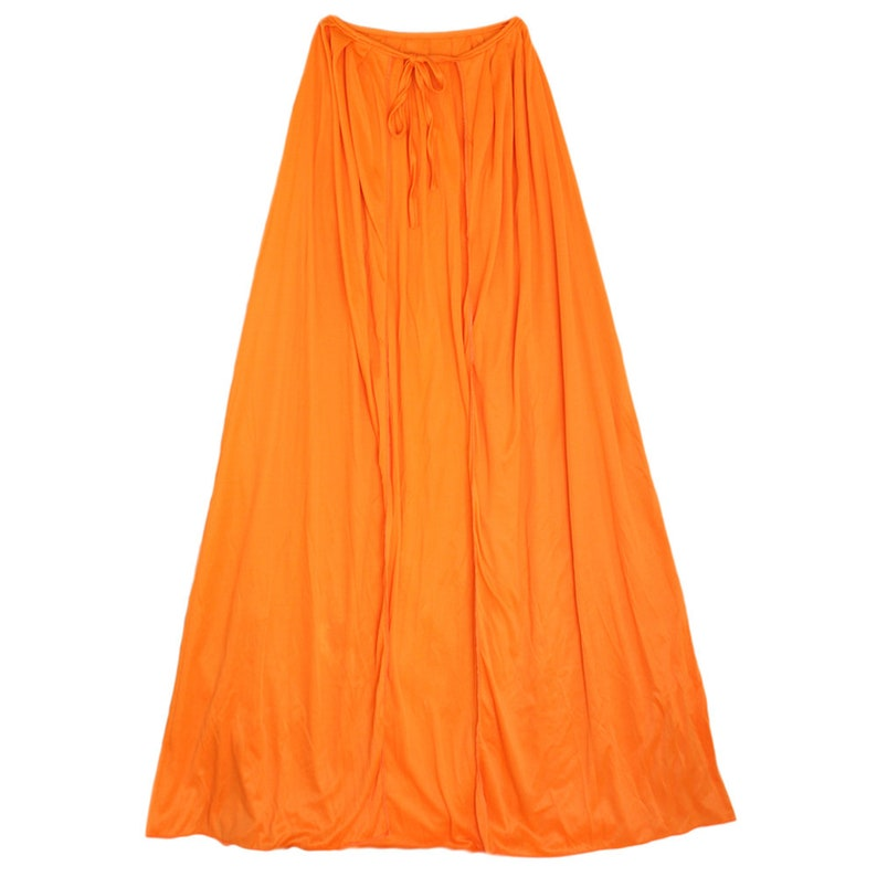 Polyester Child Teen Adult Halloween Superhero Birthday Cosplay Comic Renaissance Medieval Theatrical 39 Long Orange Cape Costume