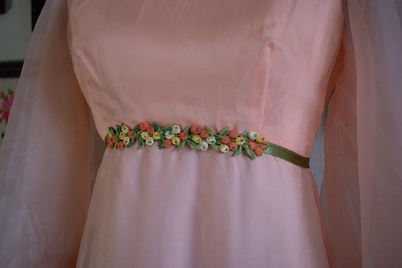 1960s Bishop Sleeve Formal Dress - image 3
