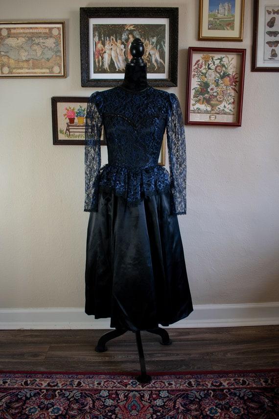 1990s Gunne Sax Formal Dress
