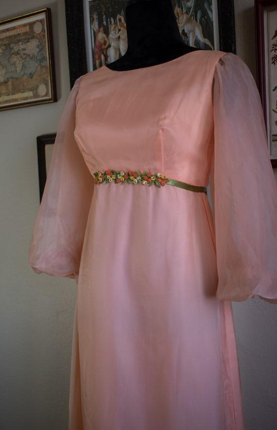1960s Bishop Sleeve Formal Dress - image 2