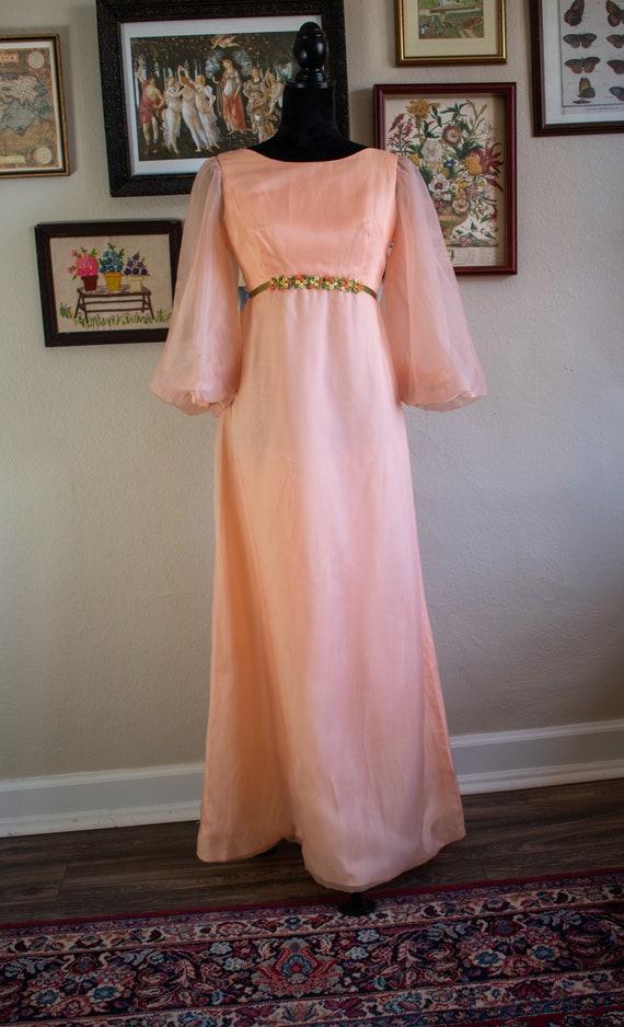 1960s Bishop Sleeve Formal Dress