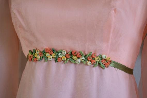 1960s Bishop Sleeve Formal Dress - image 4