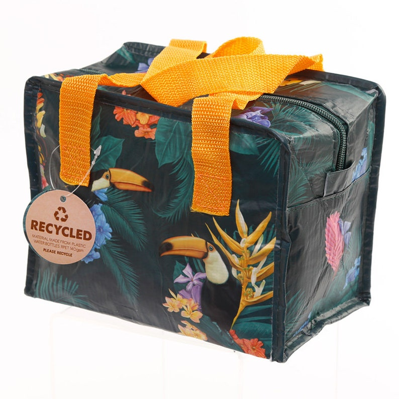 Toucan Party Zip Up Lunch Bag  made from recycled plastic image 0