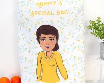 Custom Foldable Shopping Bag - Create Your Cartoon Market Bag - Cute Reusable Shopper Bag for Her