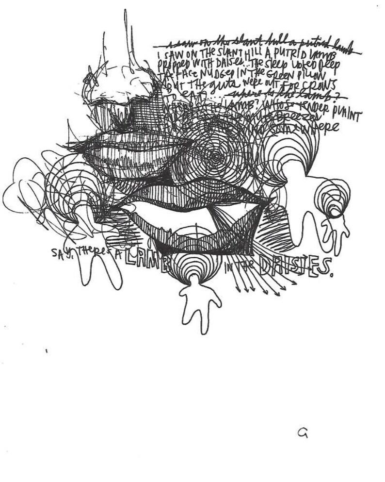 Kodamawanders The Putrid Lamb Ink Illustration