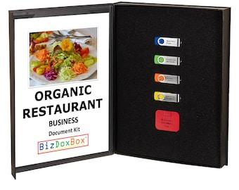 Organic Restaurant Business Plan Template Package