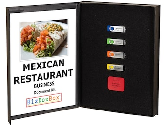 Mexican Restaurant Business Plan Template Package
