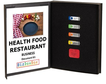 Health Food Restaurant Business Plan Template Package