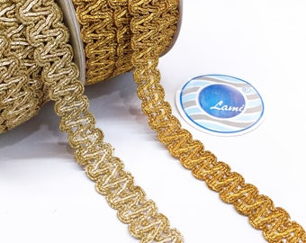 Indian Sari Border diy Trimmings Christmas Lehenga dresses Diy Supply Rose Gold Lace 9 Yard Shimmer Gold Metallic Trims craft Hand-Work