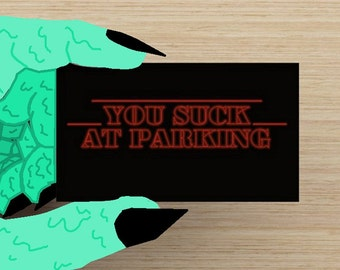 graphic regarding Bad Parking Cards Printable identify Negative parking playing cards Etsy