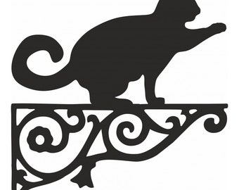 Cat /& Mouse Ornamental Bracket Cats Hanging Basket Cat and Mouse