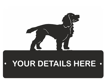Working Cocker Spaniel House Name Feature Plaque