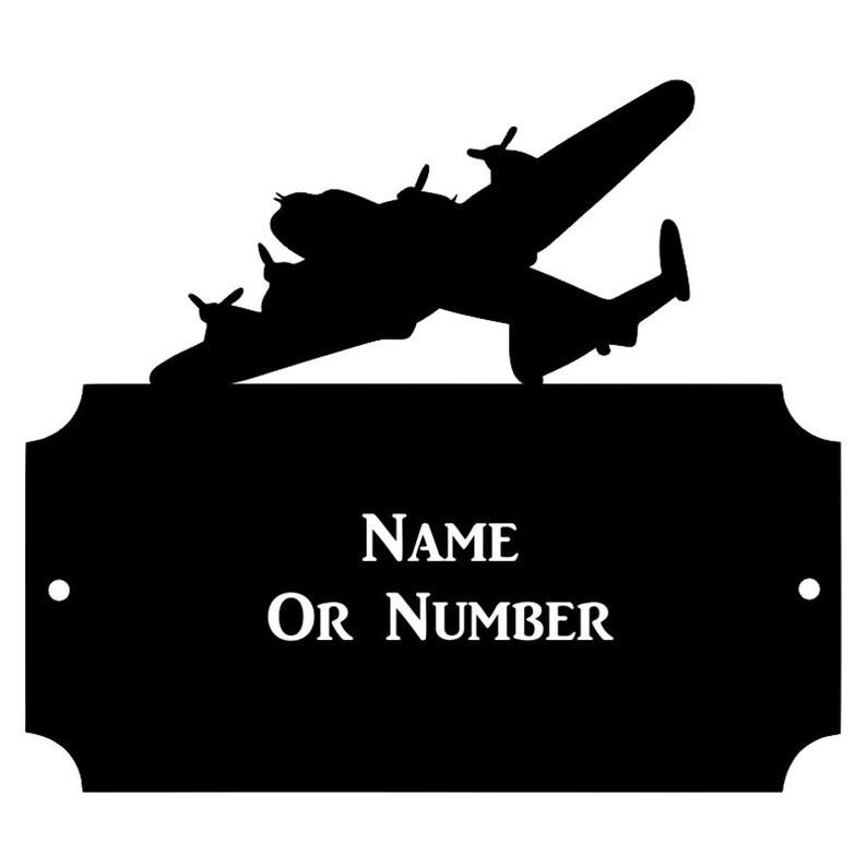 Lancaster Bomber Metal Rectangular Cutaway House Plaque