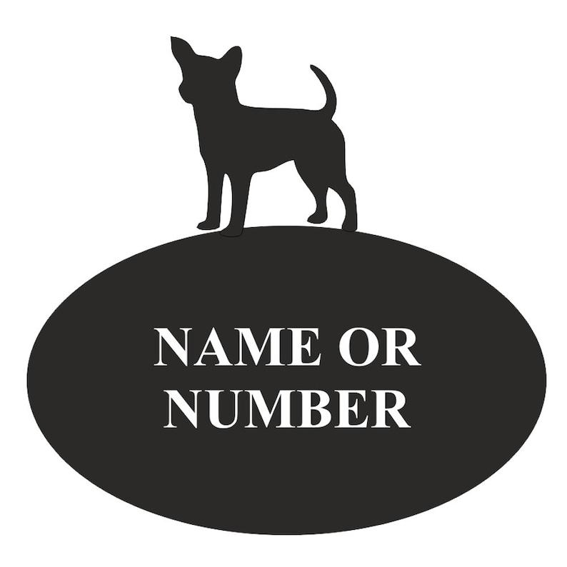 Chihuahua 2 Line Wall Address PlaqueSign